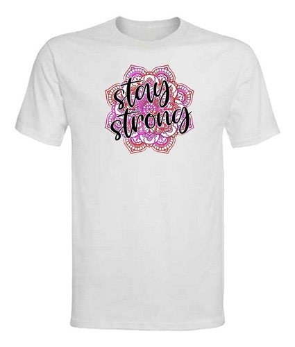 Polera Stay Strong - Niña - Transfer Sublimable - Frase