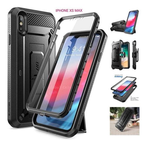 Case Militar iPhone X Xs Max / Xr / Xs+ Mica Super Carcasa