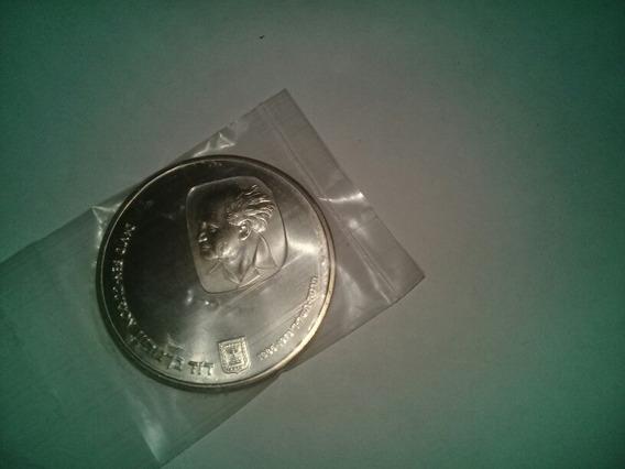 Moneda 25 Lirot Israel 1974 De Plata Ben Gurion Sin Circular