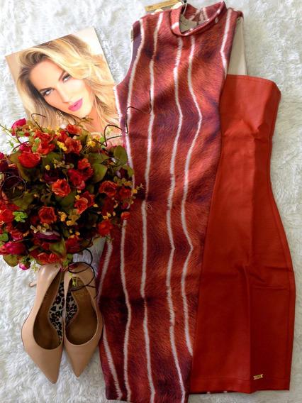 Vestido Recorte Corino Tam M