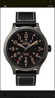 Reloj Timex Exped Scout 43 Black Cuero Strap Black Tw4b11400
