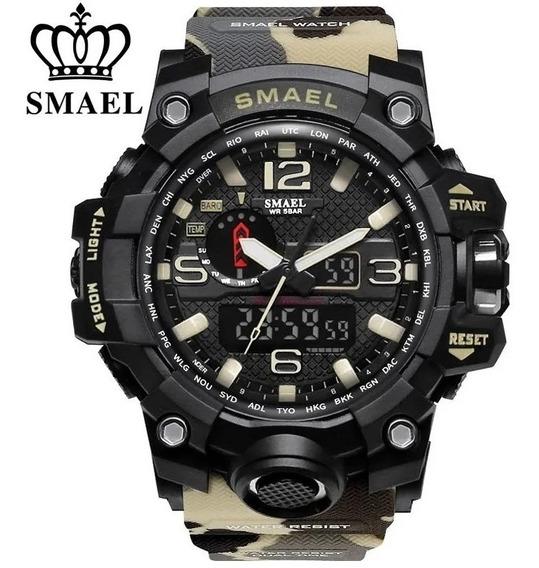 Relógio Masculino Smael 1545 Original Camuflado Promoção!!