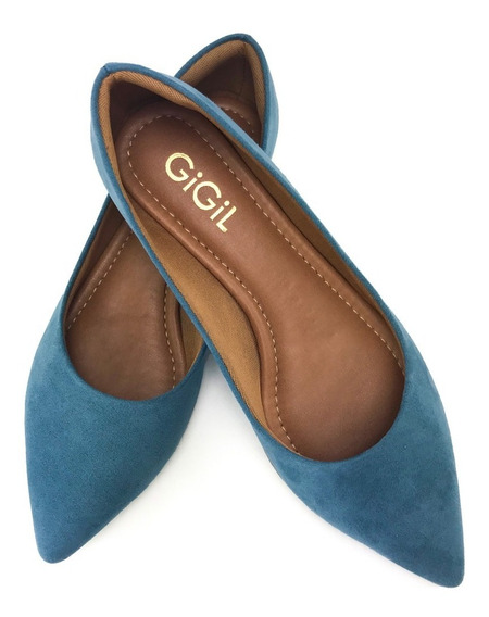 Sapatilha Feminina Scarpin Sapato Luxo Salto Rasteirinha Macia Cores Da Moda Bico Fino Calce Fácil Conforto Oferta G10
