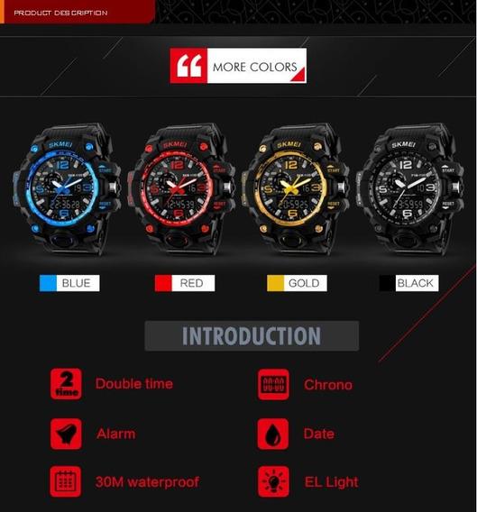 Kits 2x Relógio Masculino Militar Skmei 1155 Cores Promoção
