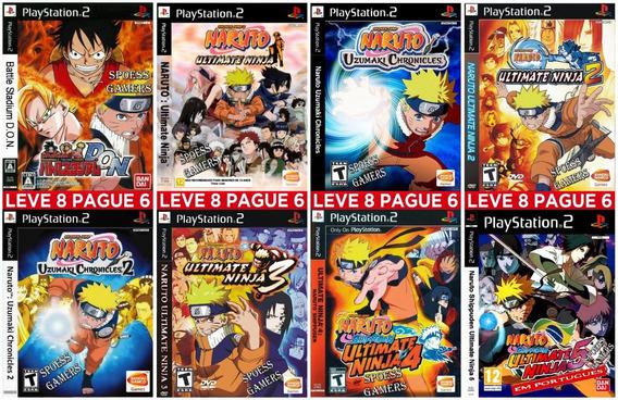 Naruto Ps2 Ninja E Chronicles Coleção (8 Dvds) Patch Me