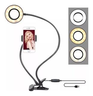 Ring Light Portátil Com Suporte Para Smartphone