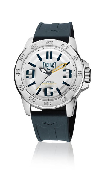 Relógio Pulso Everlast Masculino Esporte Silicone Preto E698