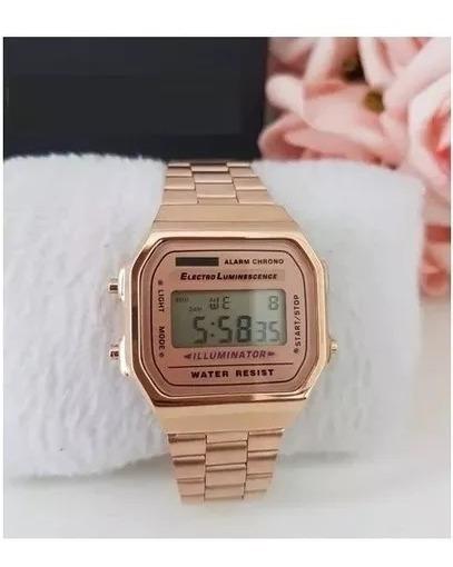 Relógio Pulso Rose Unisex Retrô Top Vintage