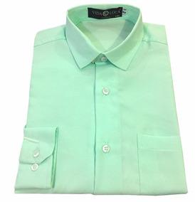 033fb610c4 Uniforme Camisa Trabalho Oficina - Camisas Masculinas Verde-claro ...