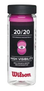 Pelotas Racquetball Wilson 20/20 Caja 3 Pz Deporte Rosa Azul