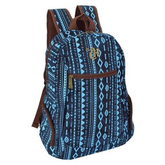 Mochila Capricho Etnic Blue Escolar Original G 48908