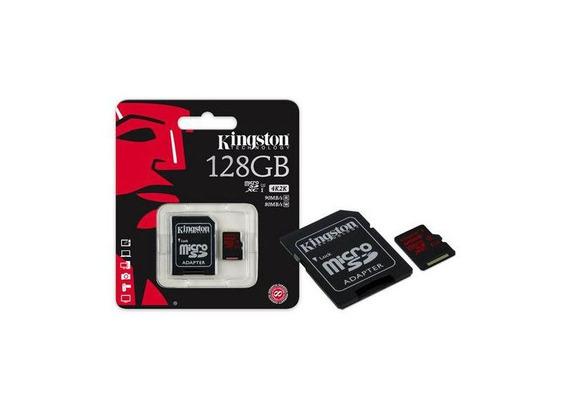Cartao De Memoria Micro Sd Kingston 128gb + Adpt 10 Sdca3