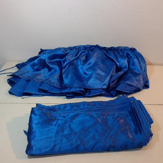 Lote De 2 Telas Raso Azul