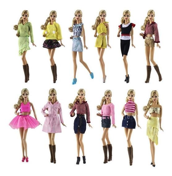Roupa Vestido P/ Boneca Barbie + 2 Sapatos * Lindos Modelos