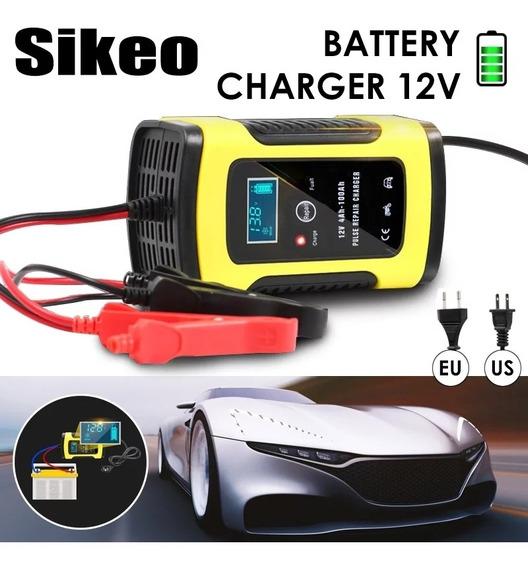 Carregador De Bateria Portaril Bivolt Carro/moto Digital 6ah