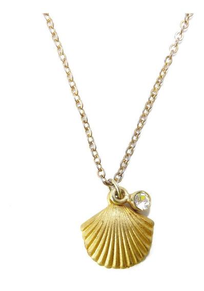 Colar Concha Do Mar Dourado