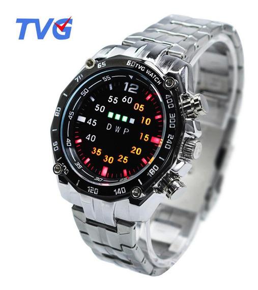 Relógio Binário Tvg Km3101 Leds Multicores Moderno Inovador