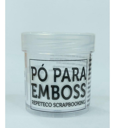 Imagem 1 de 1 de Repeteco - Pó Para Emboss Opaco - Cor Transparente - 14gr