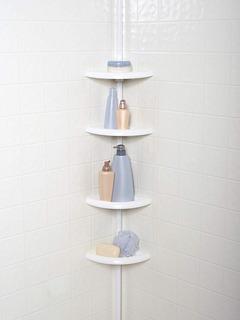 Mueble Repisero Esquinero Organizador Para Baño Plastico