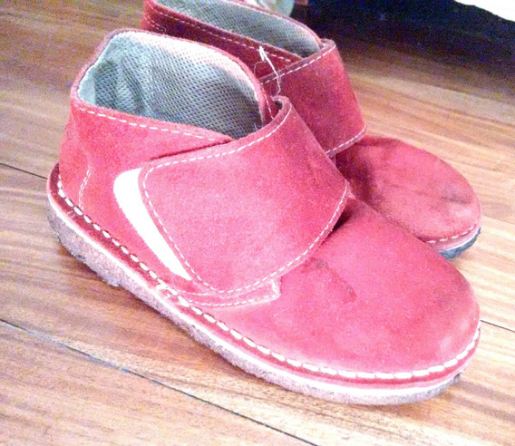 Botita Gamuza C/ Brojo Rojas Bota Zapato Caba Centro Stelmo