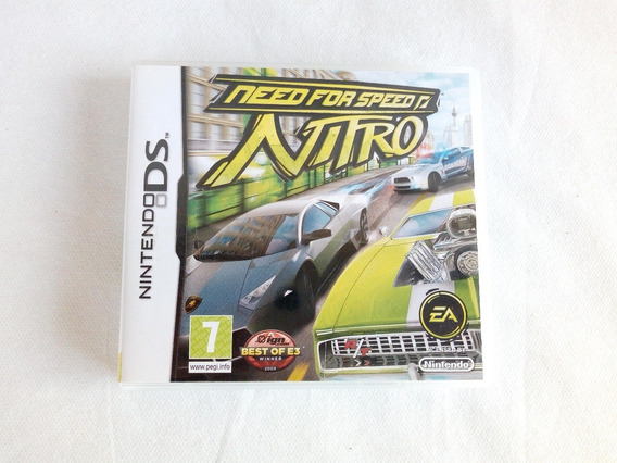 Estojo Jogo Need For Speed Nitro Nintendo Ds Com Manual