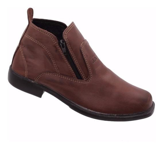 Botina Bota Sapato Jali Em Couro Legitimo Masculino