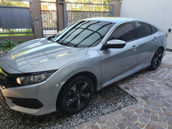 Honda Civic 2017 Ex Aut Titular, Único Dueño, Papeles Al Día