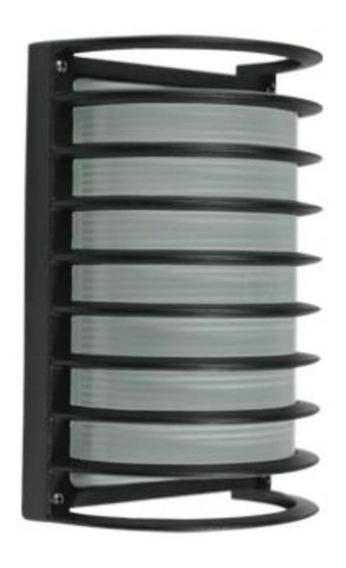Lámpara Pared Exterior Arbotante Rejilla Alum Negr E27 Calux
