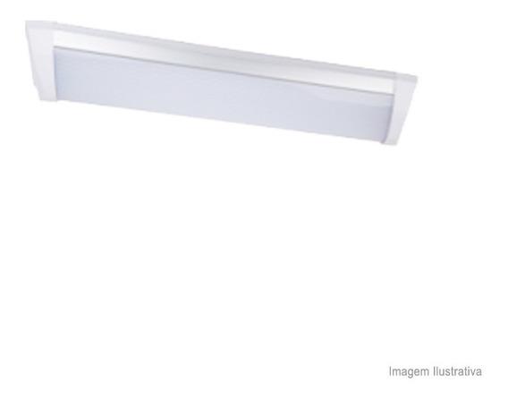 Luminária De Sobrepor Led Linear Para Teto 36w Bivolt Branca Ecoforce Ecoforce