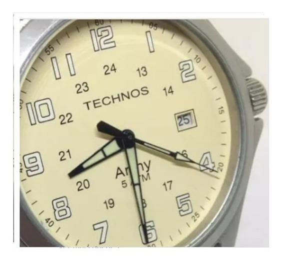 Relógio Pulso Technos 5 Atm Army Masculino T09461 Webclock