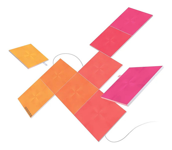 Nanoleaf Canvas Squares Touch Kit 9 Painéis Rgb Quadrado