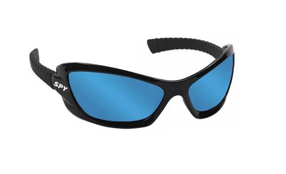 Óculos De Sol Spy Original - Mod Bogu 40 Preto - Lente Azul