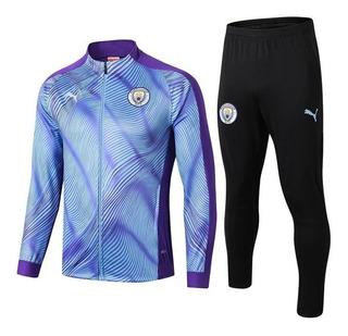 Conjunto Agasalho Manchester City Calça E Blusa De Treino