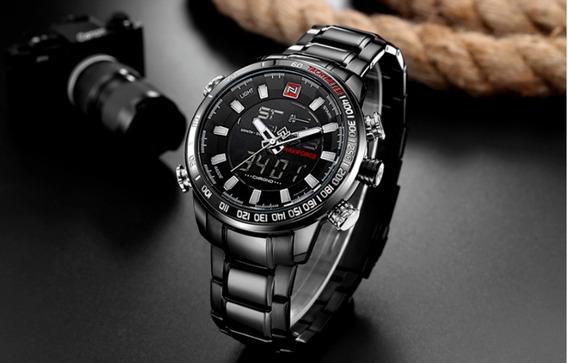 Relogio Naviforce Masculino Esportivo Original Luxo Oferta - Relógio Padrão Grande E Destaque Marca Consolidada Mercado