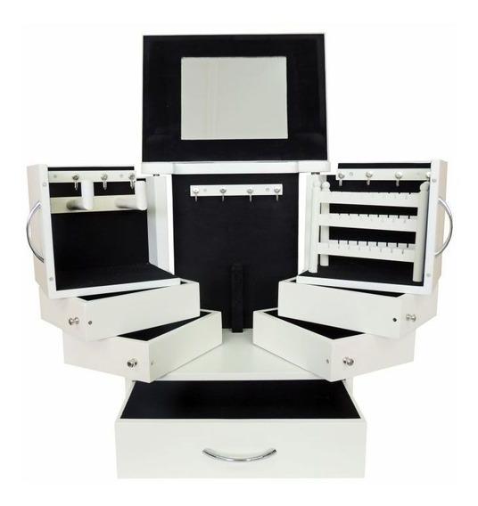 Porta Joias E Acessórios De Mesa Com Espelho W6274
