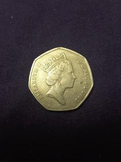 Moneda De Reino Unido De 50 Pence De 1997