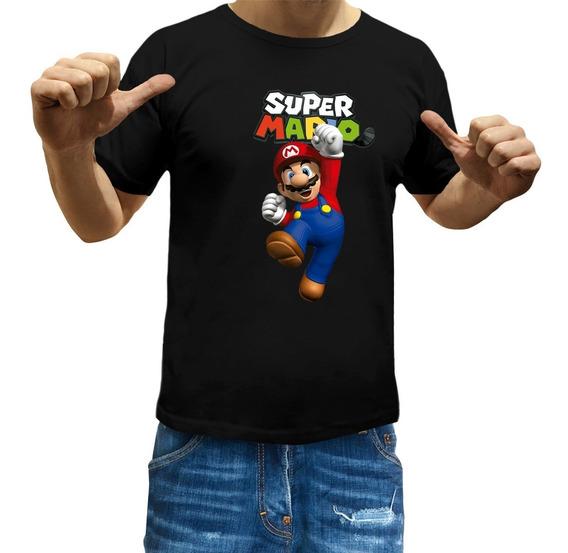 Remeras Mario Bros Niños Luigi Videojuego