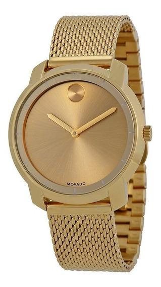 Reloj Movado Bold Dorado Mujer Hombre Nuevo 100% Original