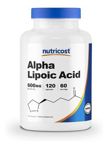 Alpha Lipoic Acid Ácido Alfa Lipoico 600mg 120 Cápsulas