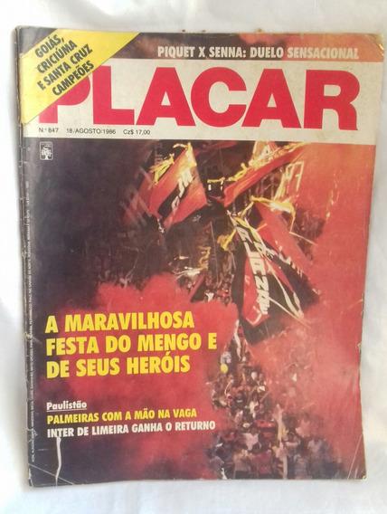 Flamengo Campeão Carioca - Revista Placar - 1986 - N.º 847