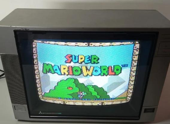 Televisão Antiga Mitsubishi 14 Retro Games