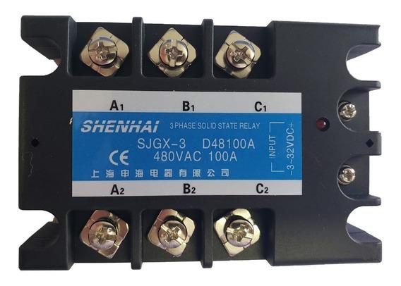 Rele De Estado Solido 100a Sjgx-3 D48100a 480vac Trifásico