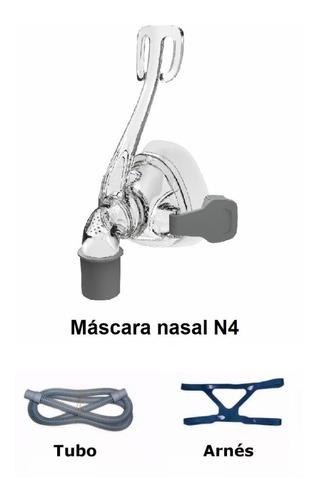 Imagen 1 de 2 de Máscara Nasal Siliconada Para Cpap+manguera (habilit.  Msp)