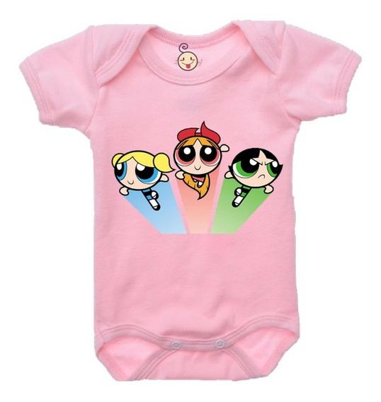 Body Infantil Bebê Meninas Super Poderosas B435rb