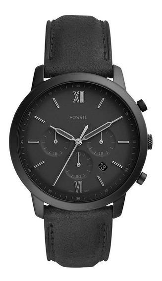 Relógio Fossil Masculino Ref: Fs5503/0pn Cronógrafo Black