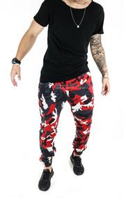 Calça Moletom Jogger Masculina Milita Camuflada Elastico Top