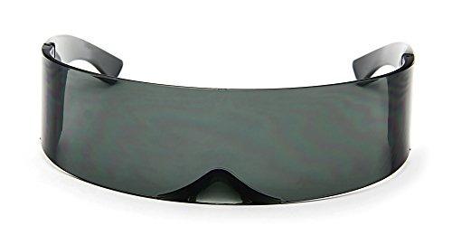 3d304f50be Abrigo De Gafas De Sol Futurista Cíclope Alrededor Escudo - $ 81.777 en Mercado  Libre