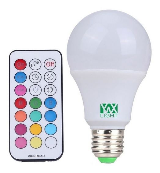 Lâmpada Rgb + W - 10w E27 - Colorida + Bulbo Pronta Entreg