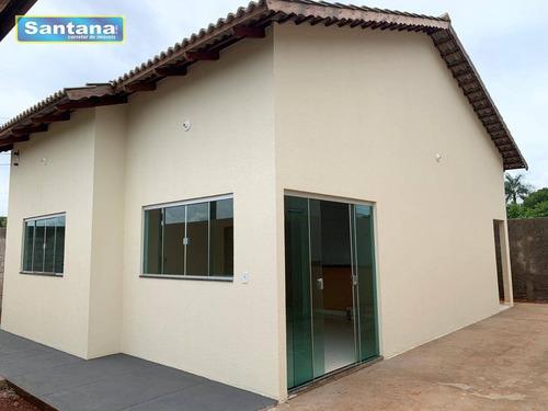 Agio De Casa Com 2 Dormitórios À Venda, 70 M² Por R$ 180.000 - Residencial Caminho Do Lago - Caldas Novas/go - Ca0151