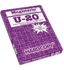 Papel Hectografico U-20 Roxo 22x33 Hc-101 Hardcopy Cx 100 Jg